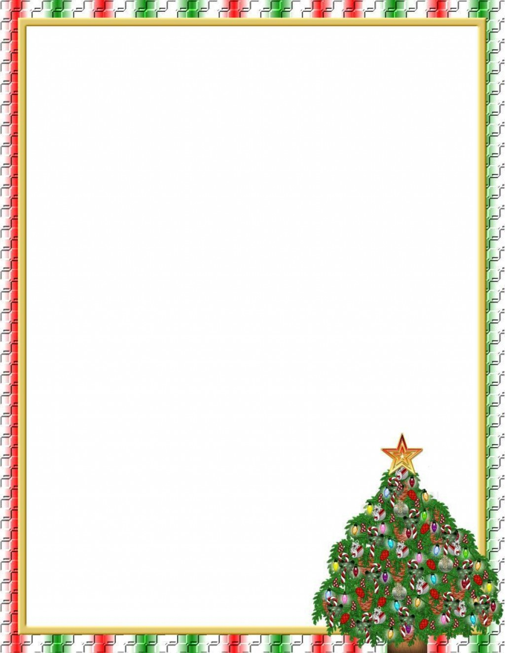 004 Fearsome Free Christian Christma Stationery Template For Word Sample Large