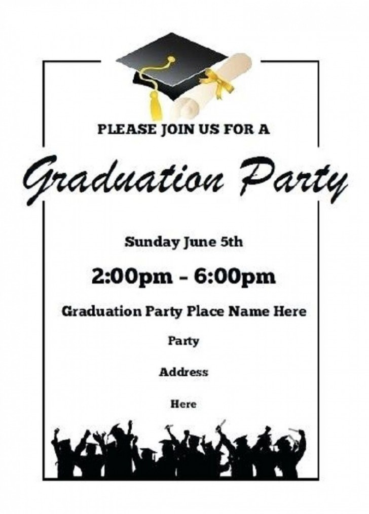 004 Fearsome Free Graduation Invitation Template Printable Concept  Party For Word Preschool728