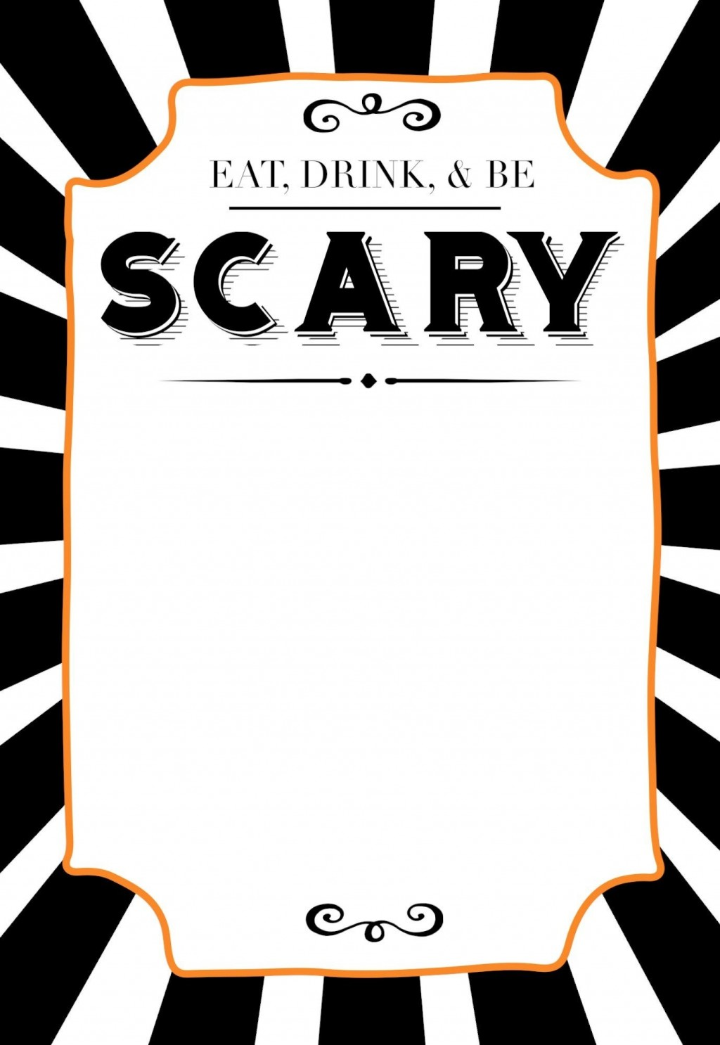 004 Fearsome Free Halloween Invite Template Design  Templates Party Invitation For WordLarge
