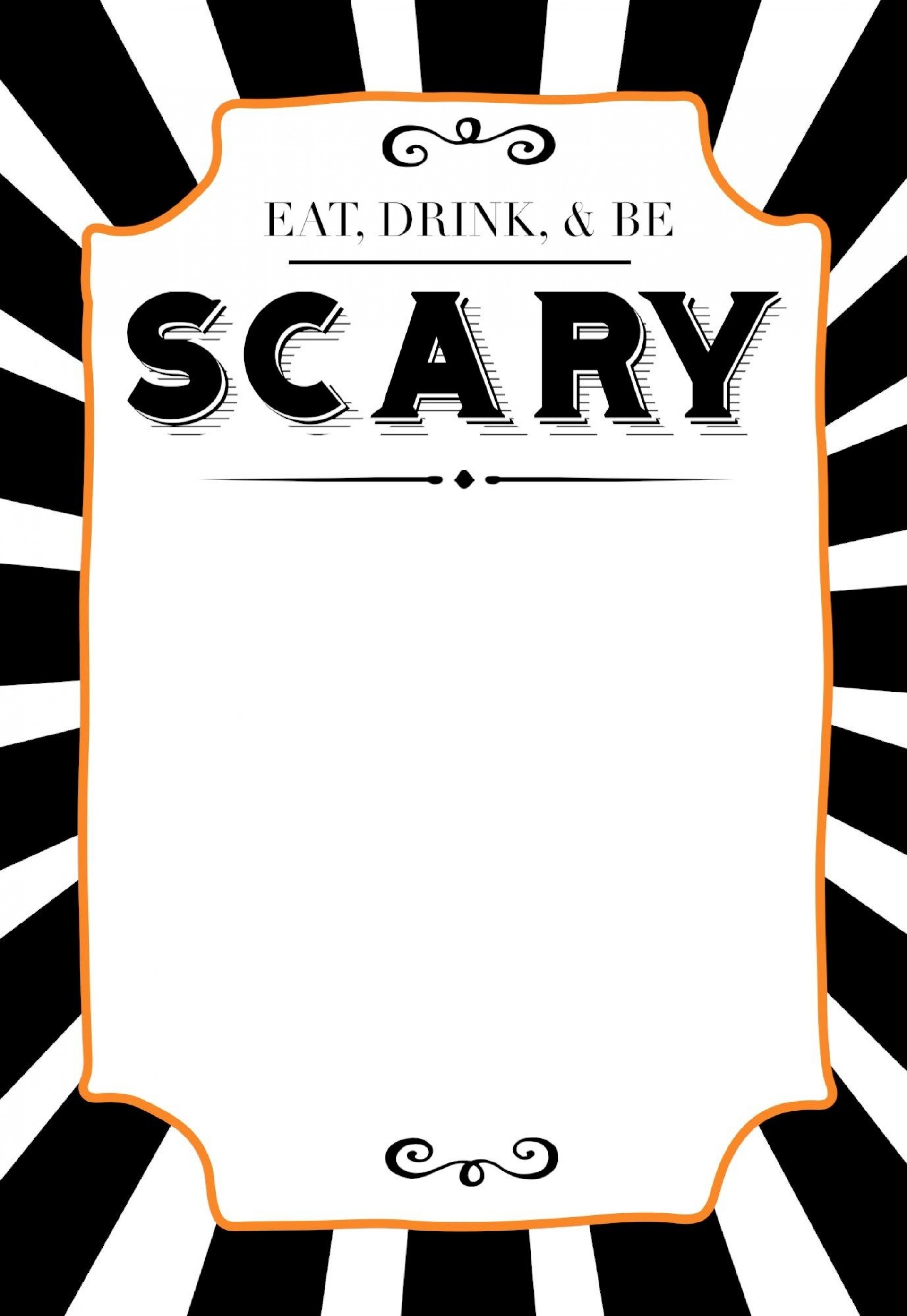 004 Fearsome Free Halloween Invite Template Design  Templates Party Invitation For Word1920