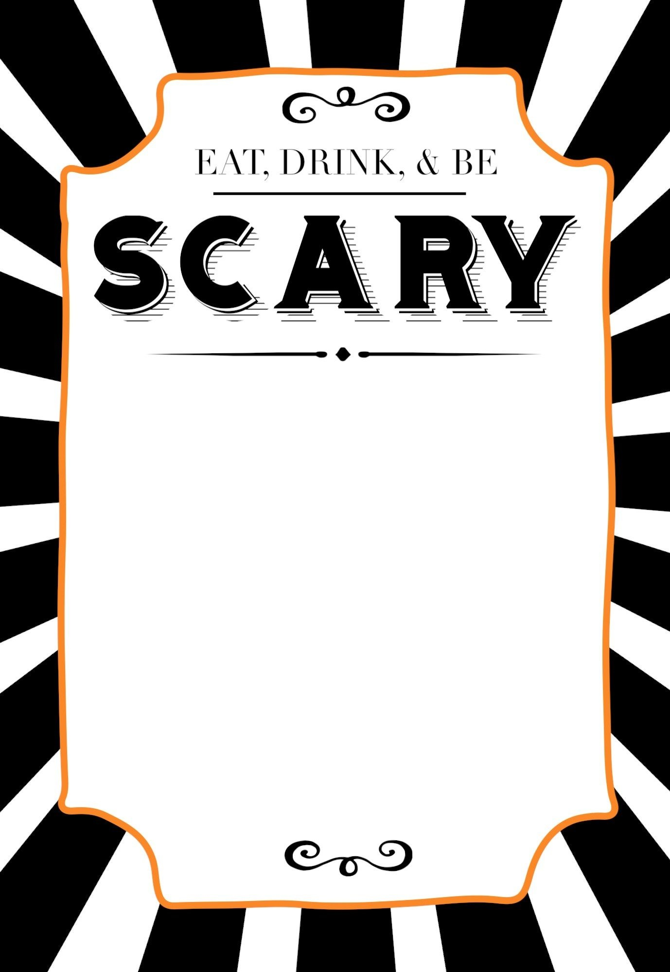 004 Fearsome Free Halloween Invite Template Design  Templates Party Invitation For WordFull