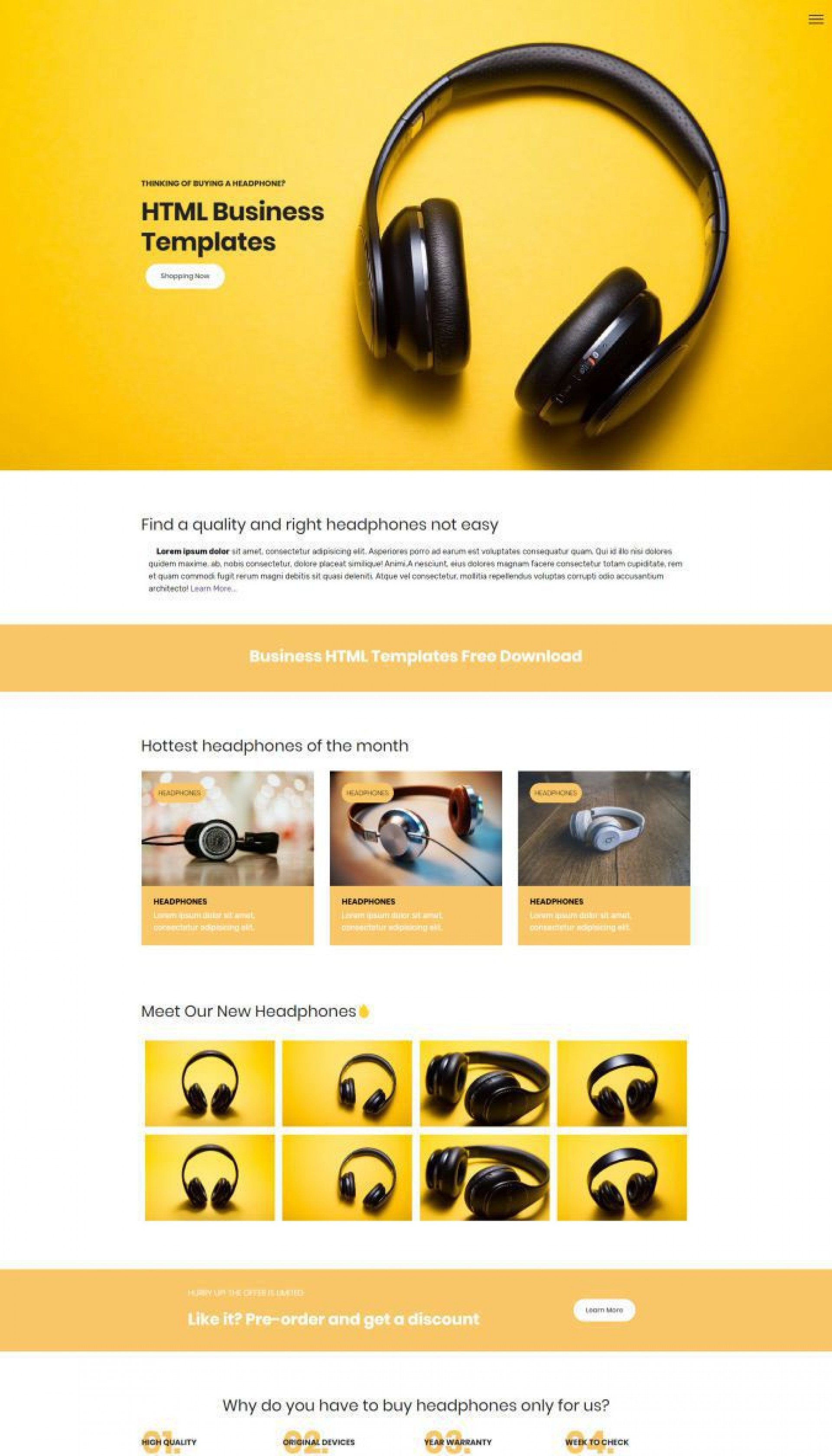 004 Fearsome Free Html Busines Web Template Download Highest Quality  And Cs For1920