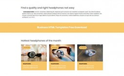 004 Fearsome Free Html Busines Web Template Download Highest Quality  And Cs For