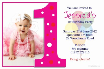 004 Fearsome Free Online 1st Birthday Invitation Card Maker For Twin Sample 360
