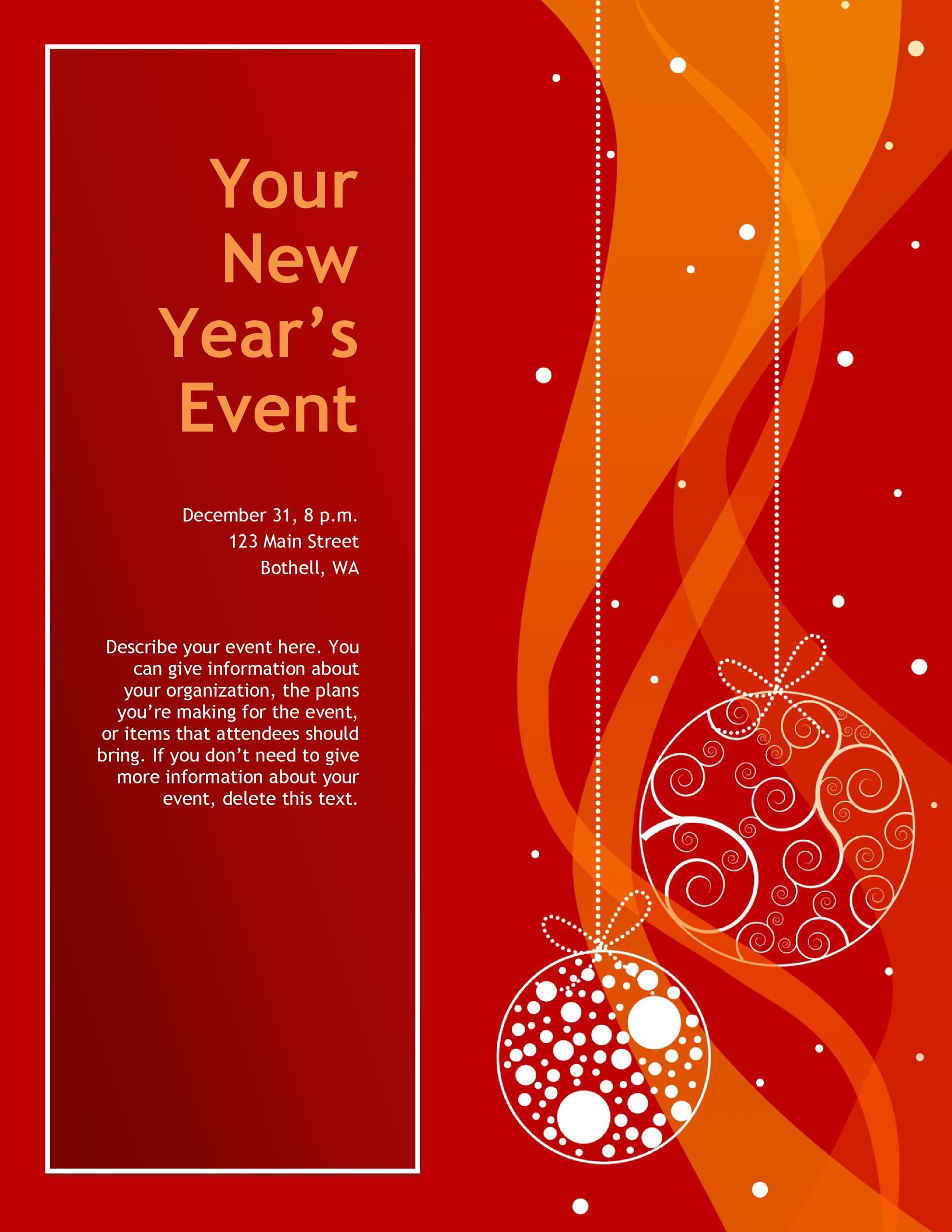 004 Fearsome Free Printable Event Flyer Template Photo  Templates ChurchFull