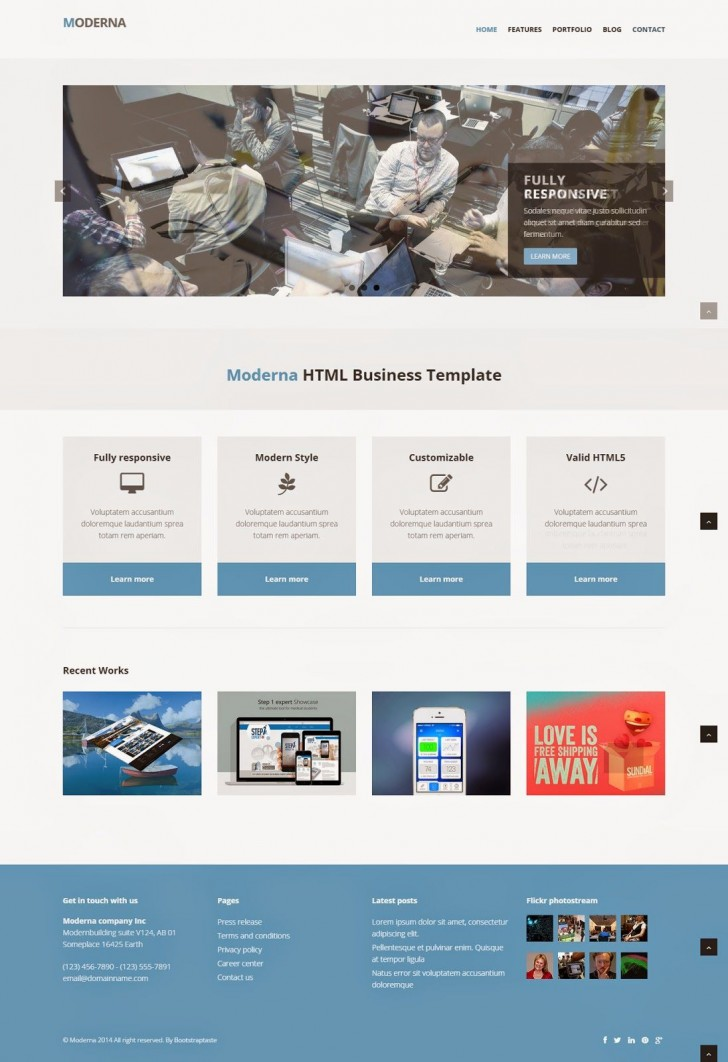 004 Fearsome Free Responsive Website Template Download Html And Cs Jquery Inspiration  For It Company728