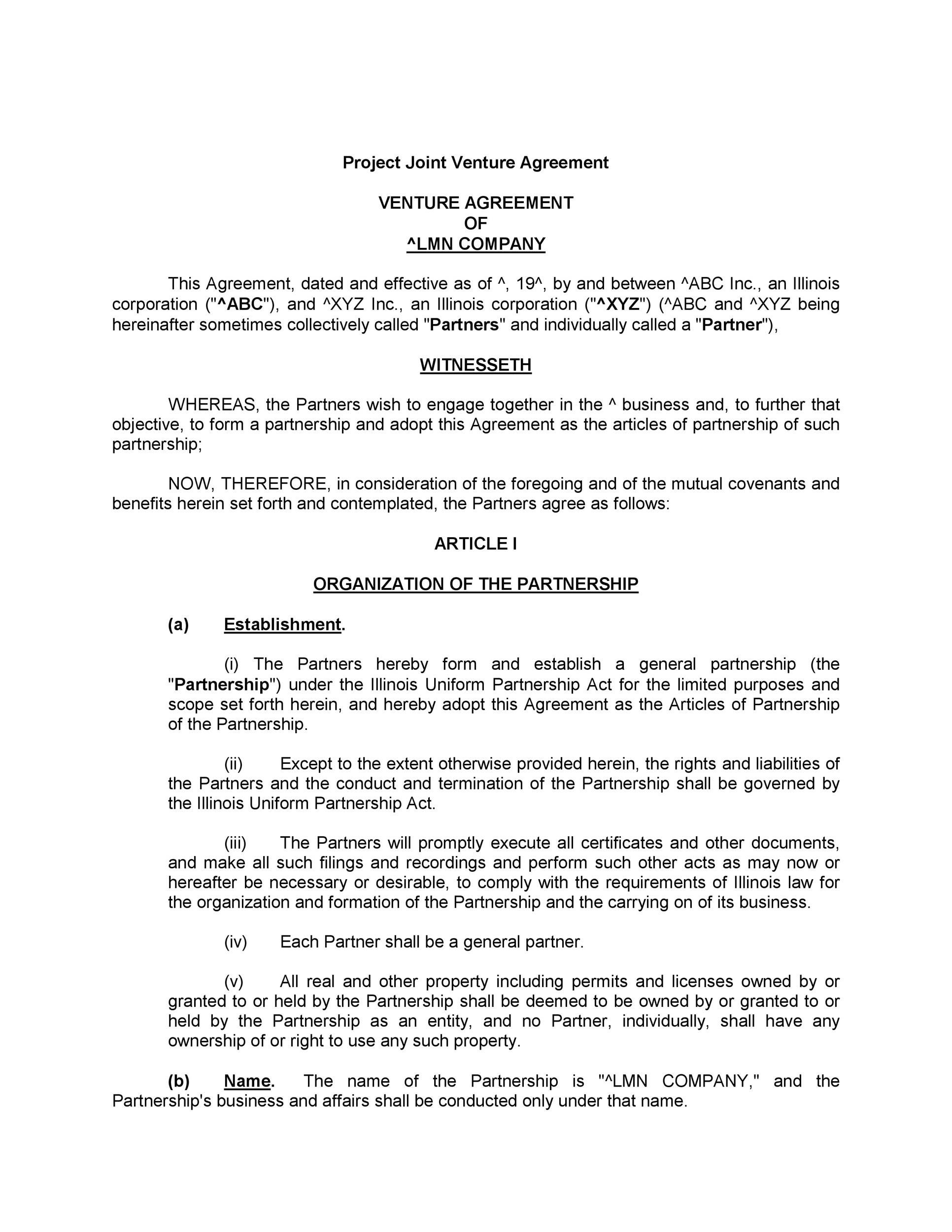 004 Fearsome General Partnership Agreement Template Canada Picture Full