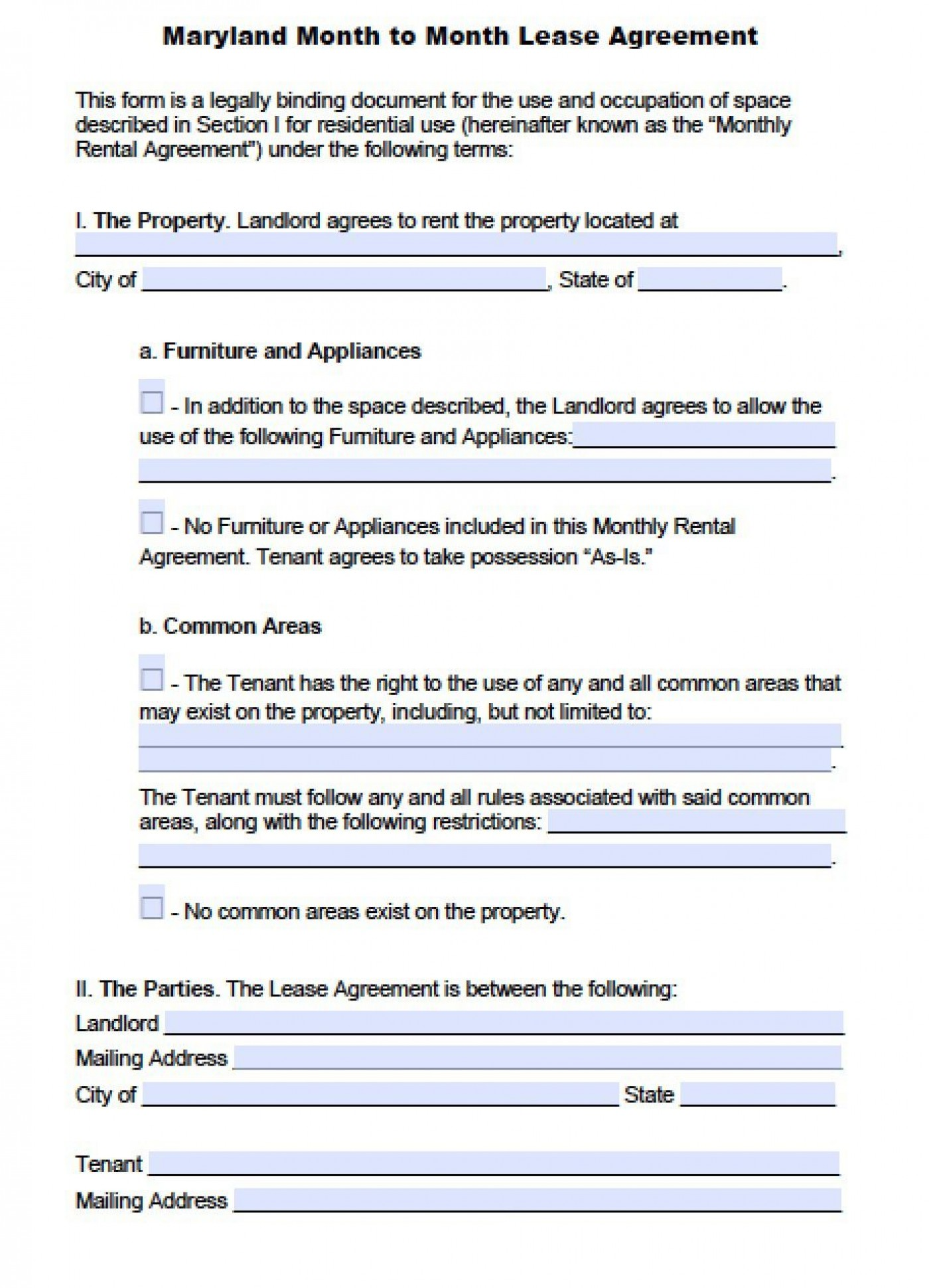 004 Fearsome Generic Rental Lease Agreement Md Picture  Sample Maryland1400