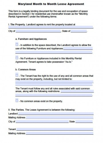 004 Fearsome Generic Rental Lease Agreement Md Picture  Sample Maryland360