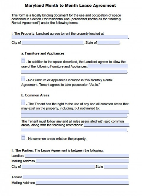 004 Fearsome Generic Rental Lease Agreement Md Picture  Sample Maryland480
