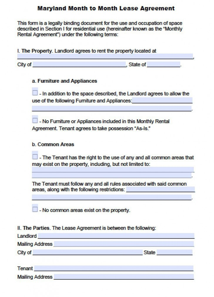 004 Fearsome Generic Rental Lease Agreement Md Picture  Sample Maryland728