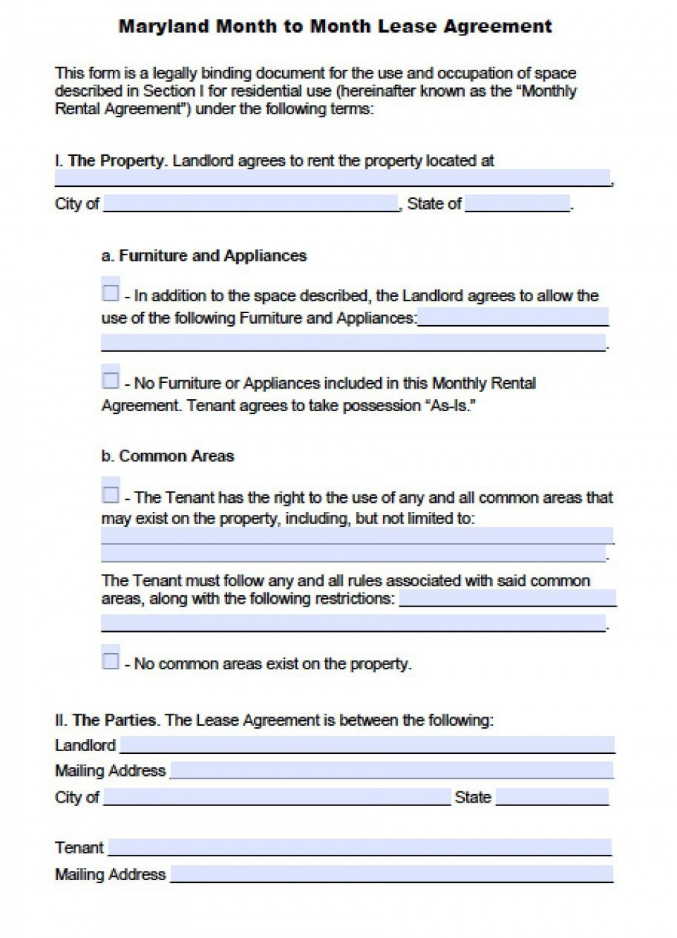 004 Fearsome Generic Rental Lease Agreement Md Picture  Sample Maryland960