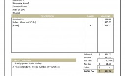 004 Fearsome Hotel Invoice Template Excel Free Download High Def