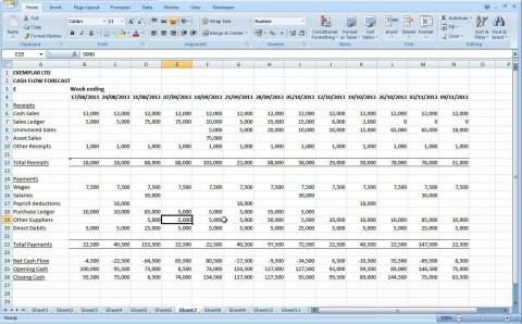 004 Fearsome Monthly Cash Flow Template Excel Uk Inspiration 480