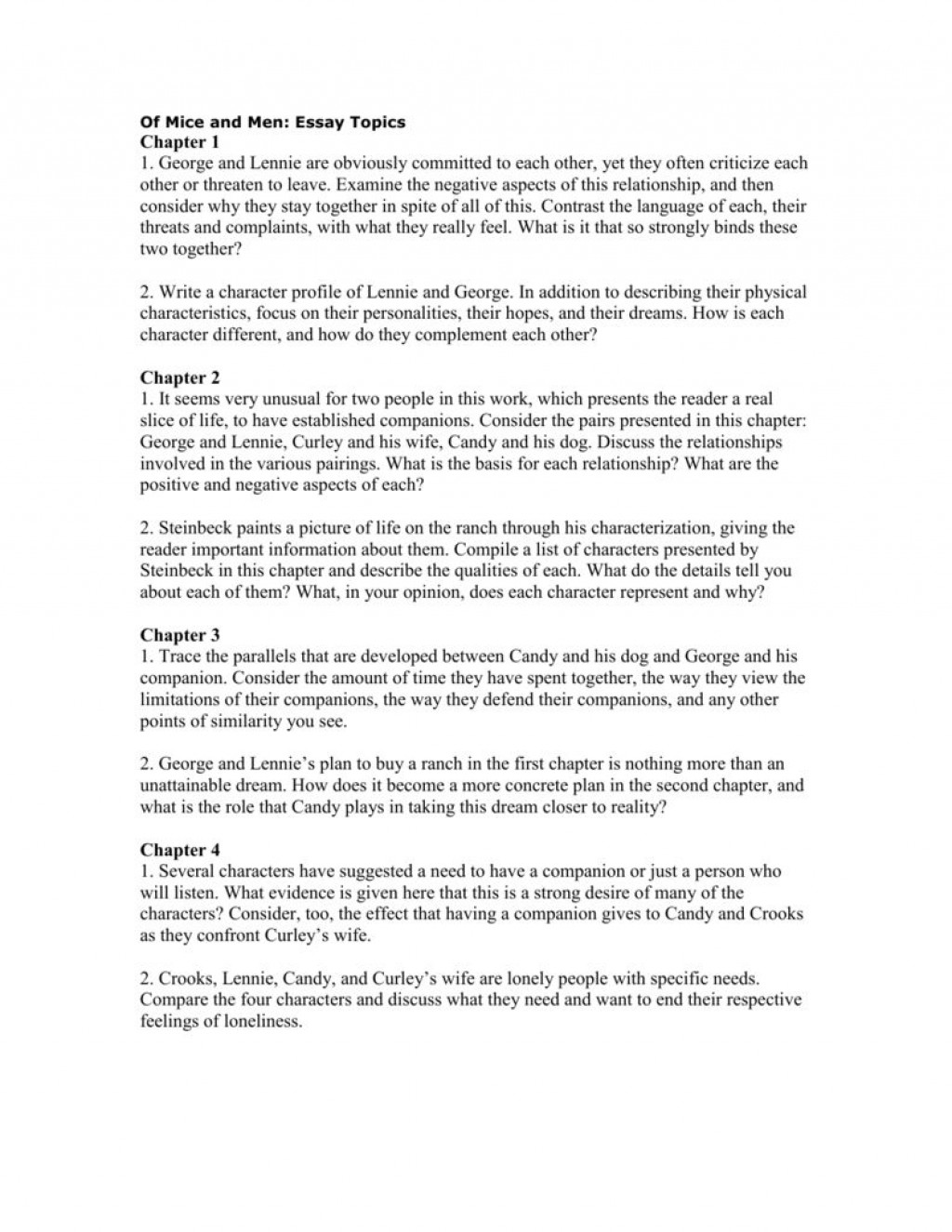 004 Fearsome Of Mice And Men Essay Concept  Prompt TopicLarge