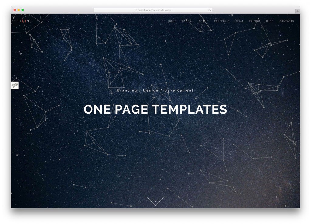 004 Fearsome One Page Website Template Html5 Free Download Picture  ParallaxLarge