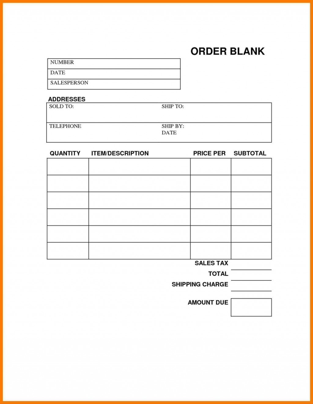 004 Fearsome Order Form Template Free Example  Application Shirt Word CustomLarge