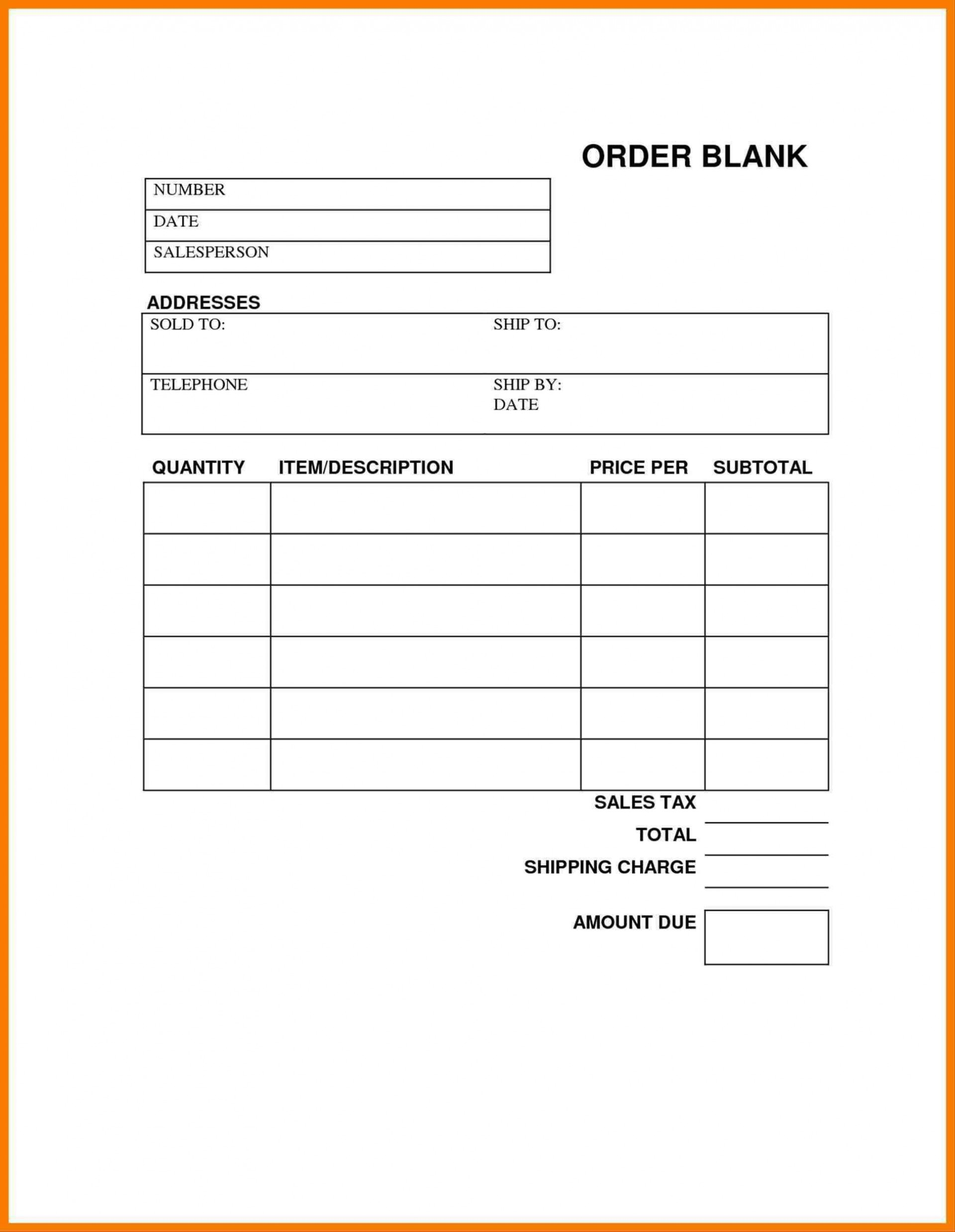 004 Fearsome Order Form Template Free Example  Application Shirt Word Custom1920