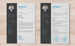 004 Fearsome Photoshop Cv Template Free Example  Modern Psd Resume Download