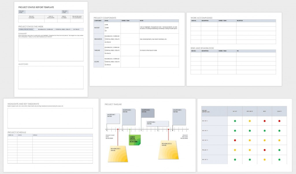 004 Fearsome Project Management Weekly Statu Report Template Ppt Idea  Template+powerpointLarge