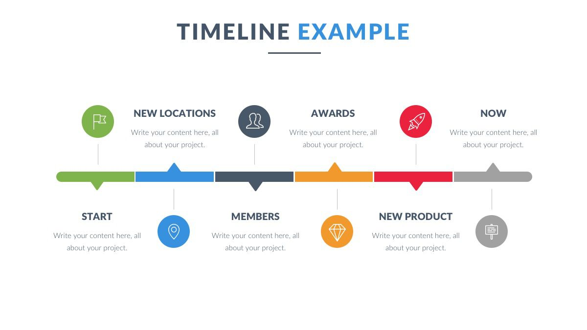 004 Fearsome Timeline Example Presentation Idea  Project Slide TemplateFull