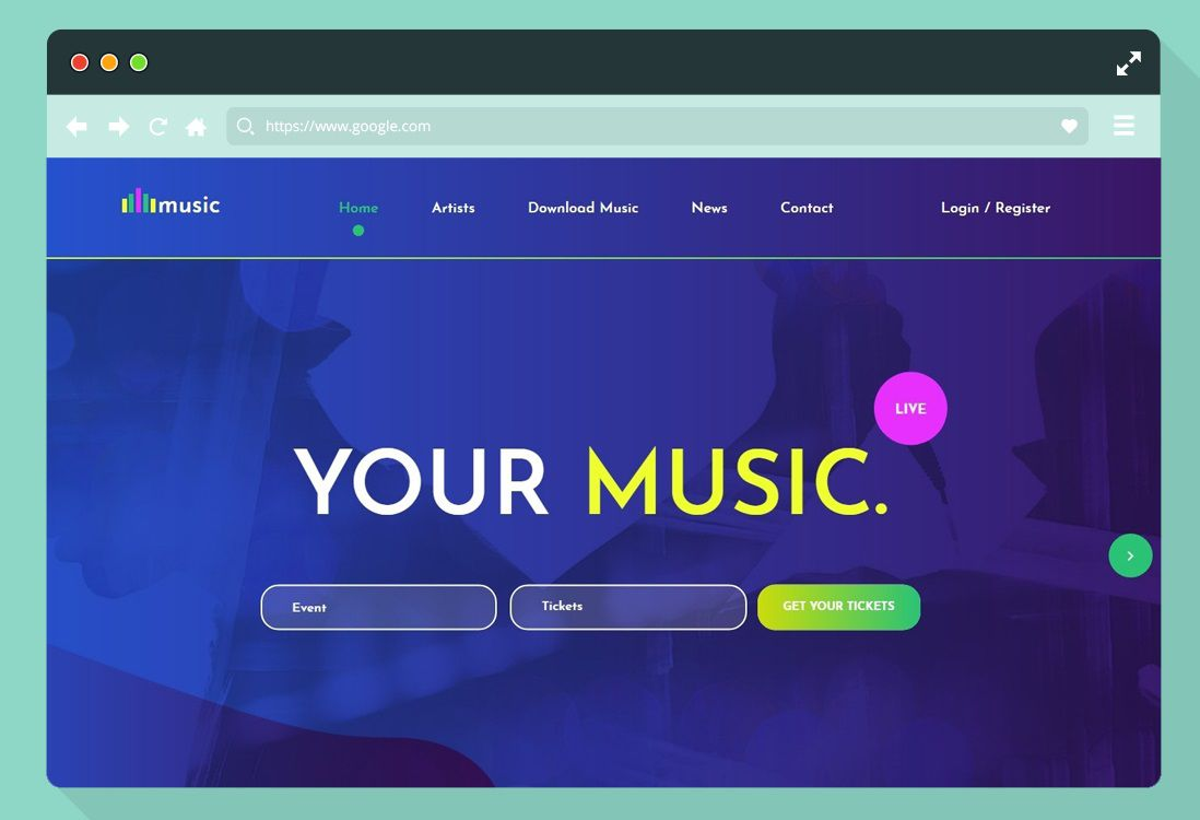 004 Fearsome Website Template Html Download Highest Clarity  Free With Cs Javascript Jquery Bootstrap Simple AndFull
