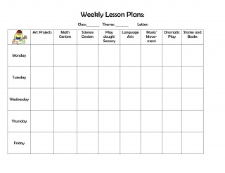 004 Fearsome Weekly Lesson Plan Template Highest Clarity  Editable Preschool Pdf Google Sheet320