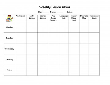 004 Fearsome Weekly Lesson Plan Template Highest Clarity  Editable Preschool Pdf Google Sheet360