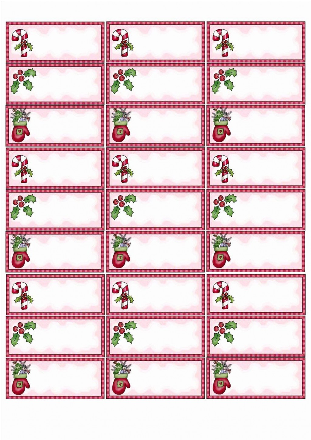 004 Formidable Christma Card Addres Label Template Concept Large