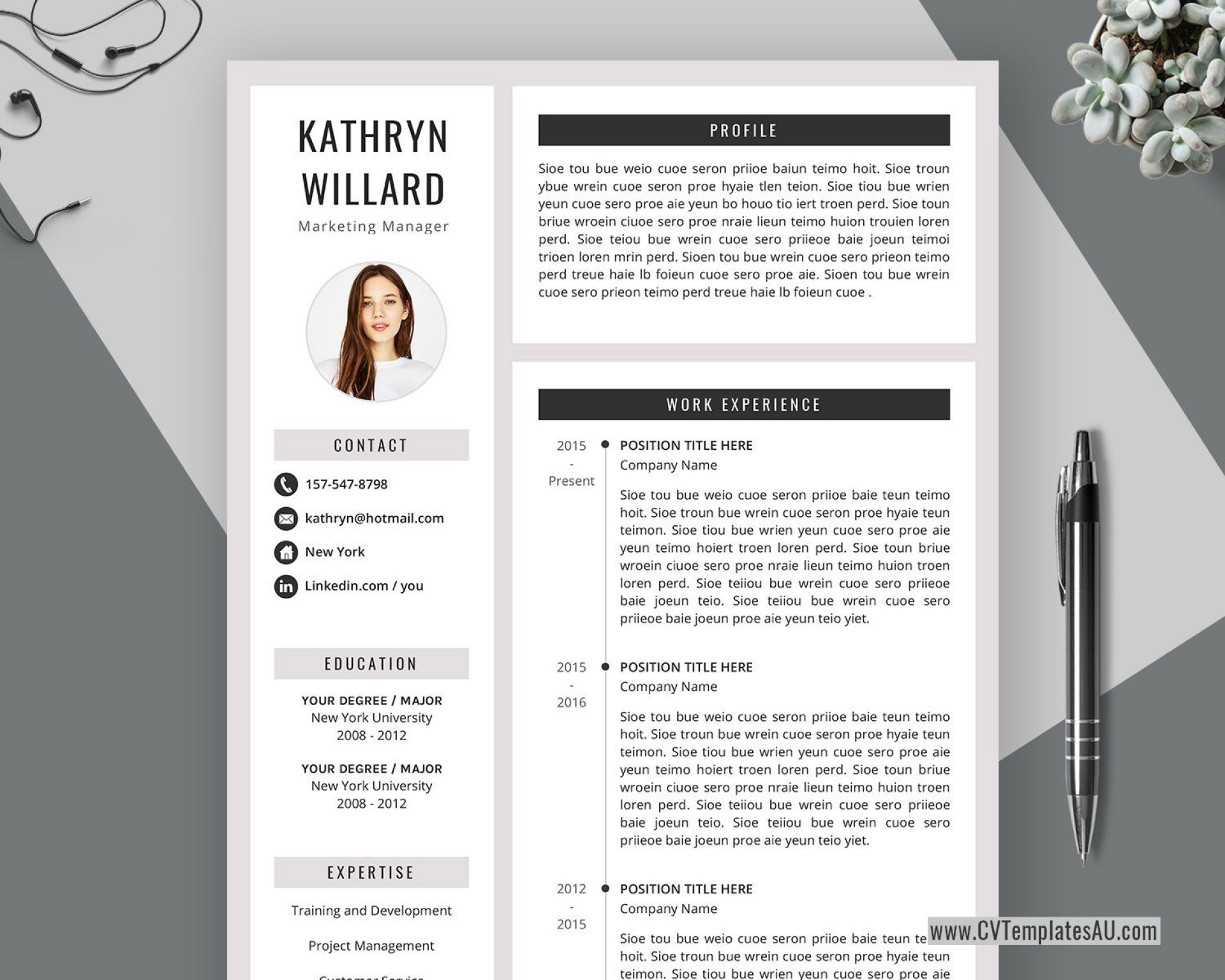 004 Formidable Curriculum Vitae Word Template Concept  Templates Download M 2019 Cv Free1920