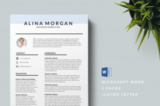 004 Formidable Download Free Resume Template Word 2018 Design 320