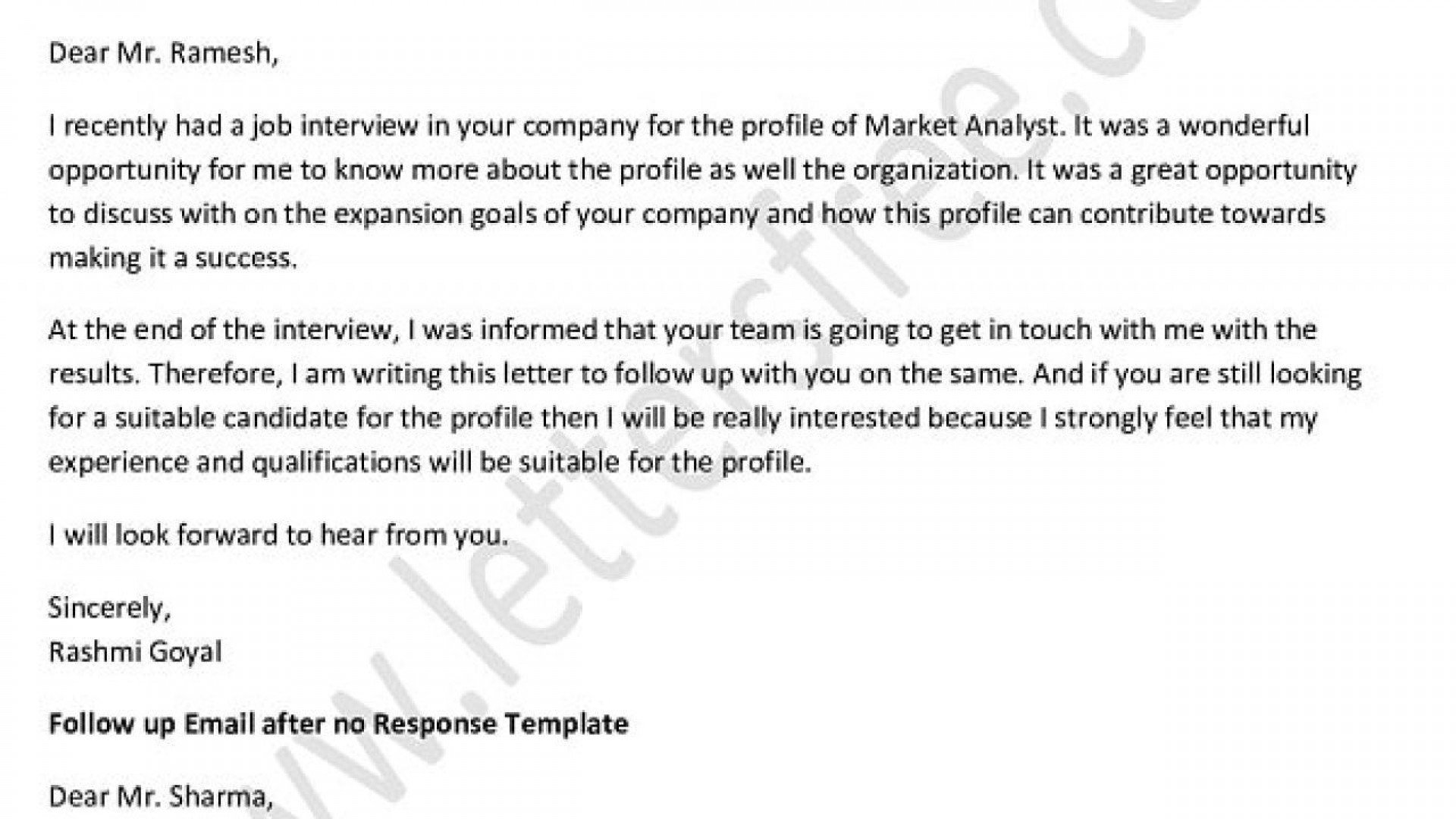 004 Formidable Follow Up Email Sample After No Response Template High Definition 1920