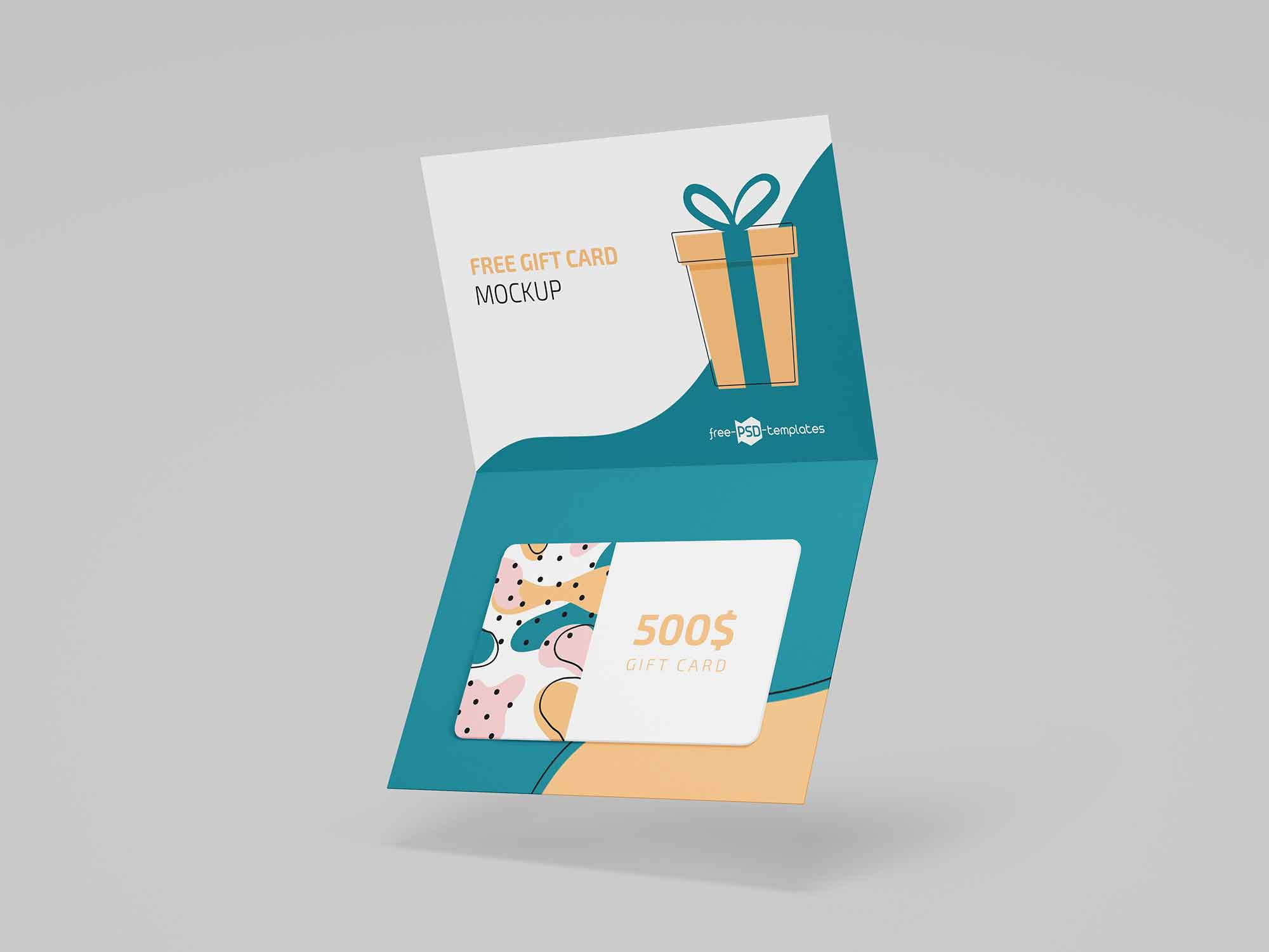 004 Formidable Gift Card Template Psd High Def  Christma Photoshop Free HolderFull