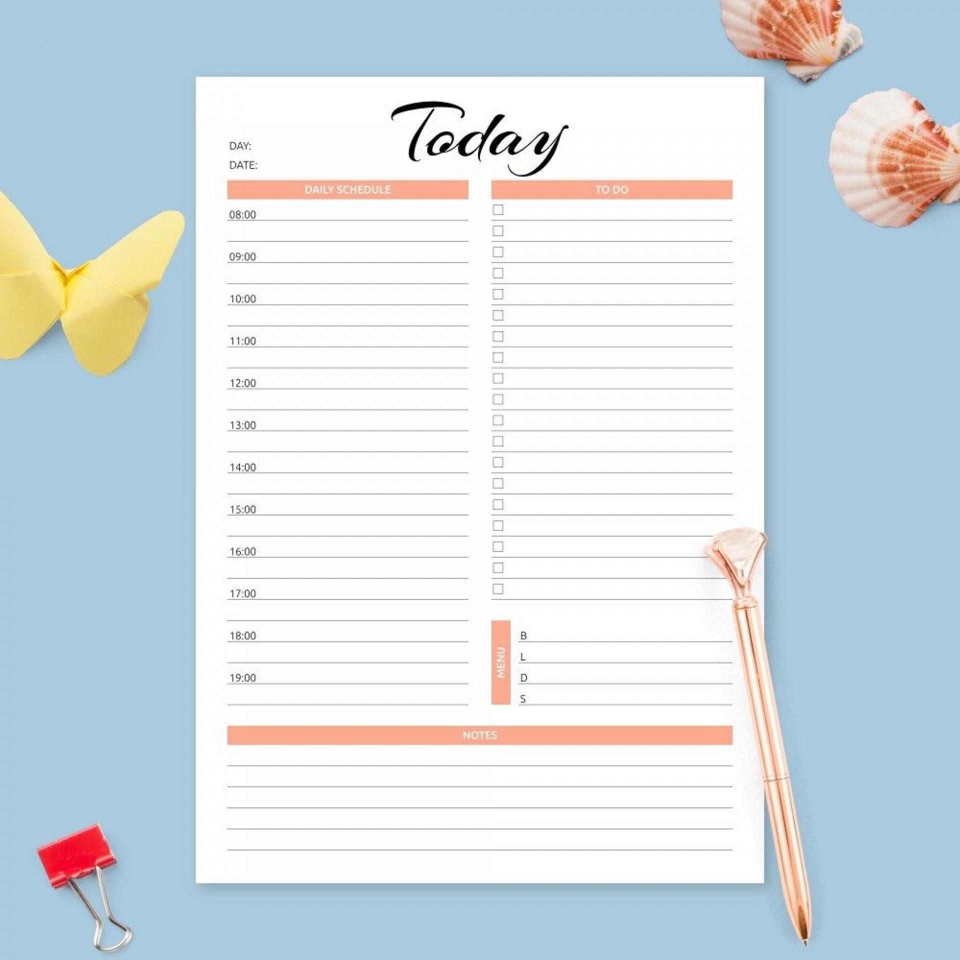 004 Formidable Hourly Calendar Template Word Design  24 Hour1920