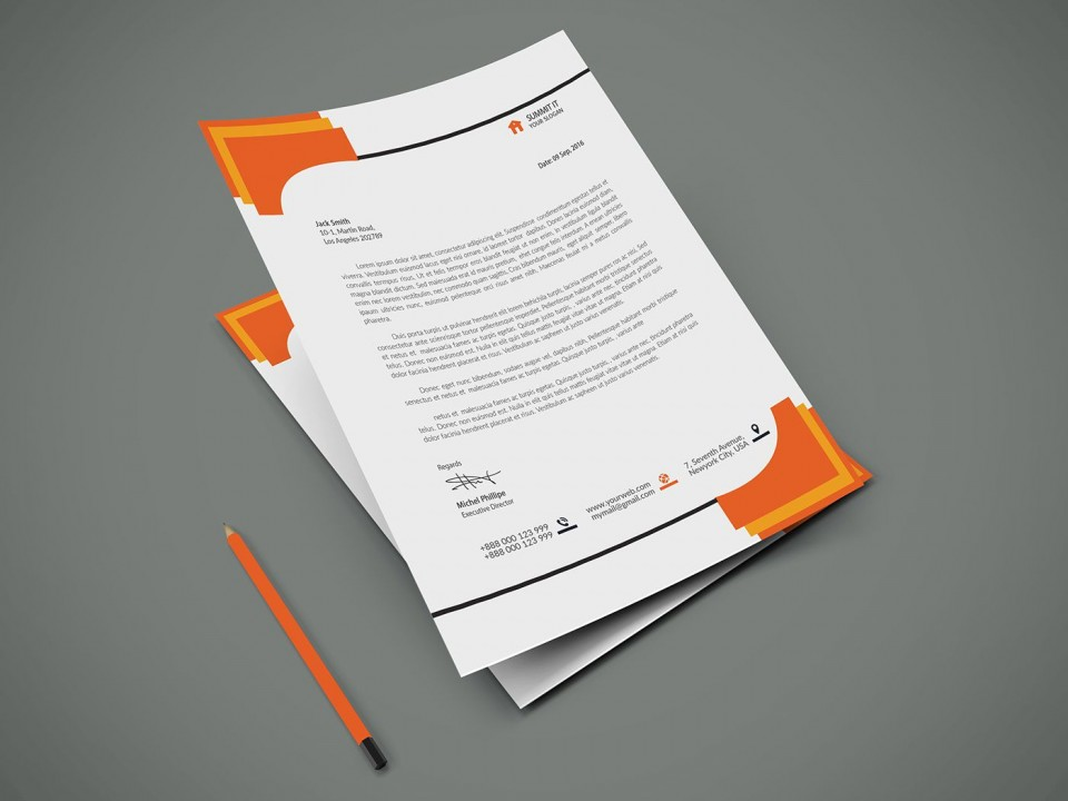004 Formidable Letterhead Template Free Download Psd High Resolution  Corporate A4960