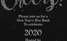 004 Formidable New Year Eve Invitation Template High Def  Party Free Word