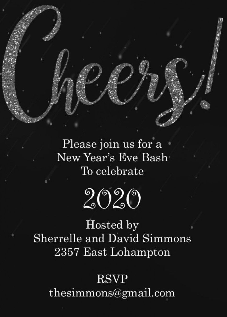 004 Formidable New Year Eve Invitation Template High Def  Party Free WordFull