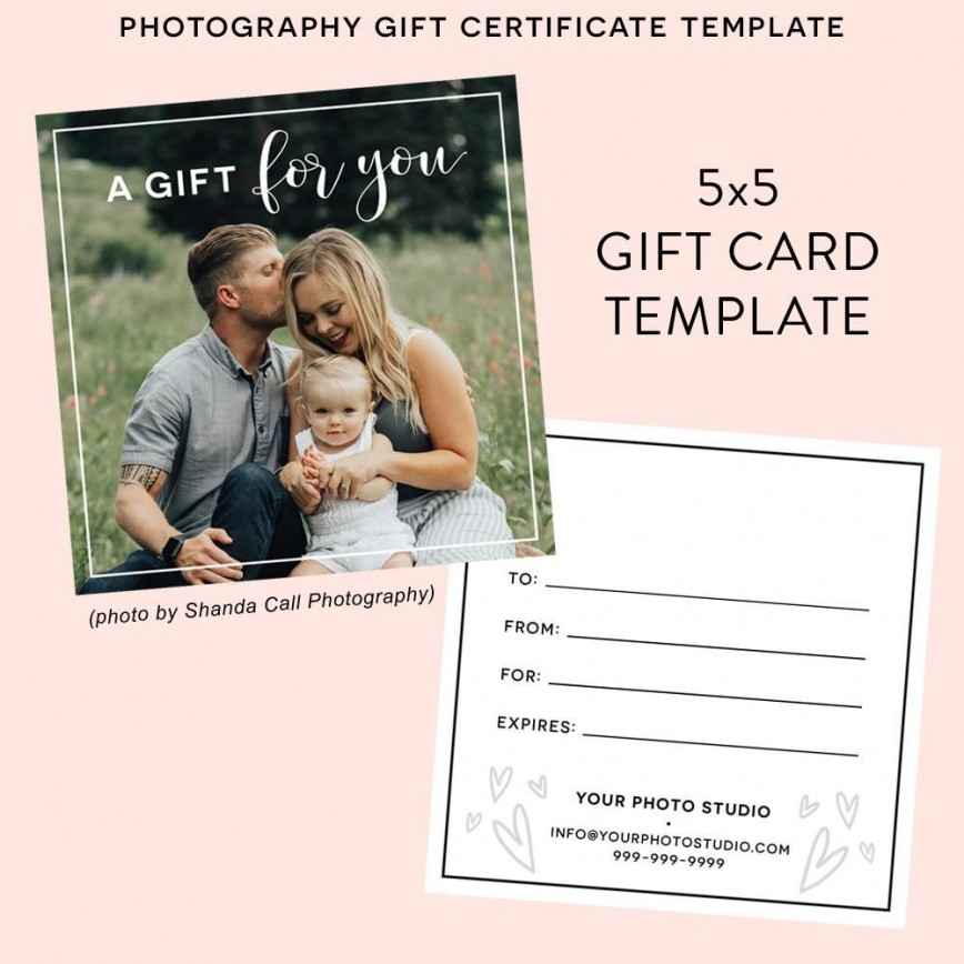 004 Formidable Photography Gift Certificate Template Photoshop Free High Definition