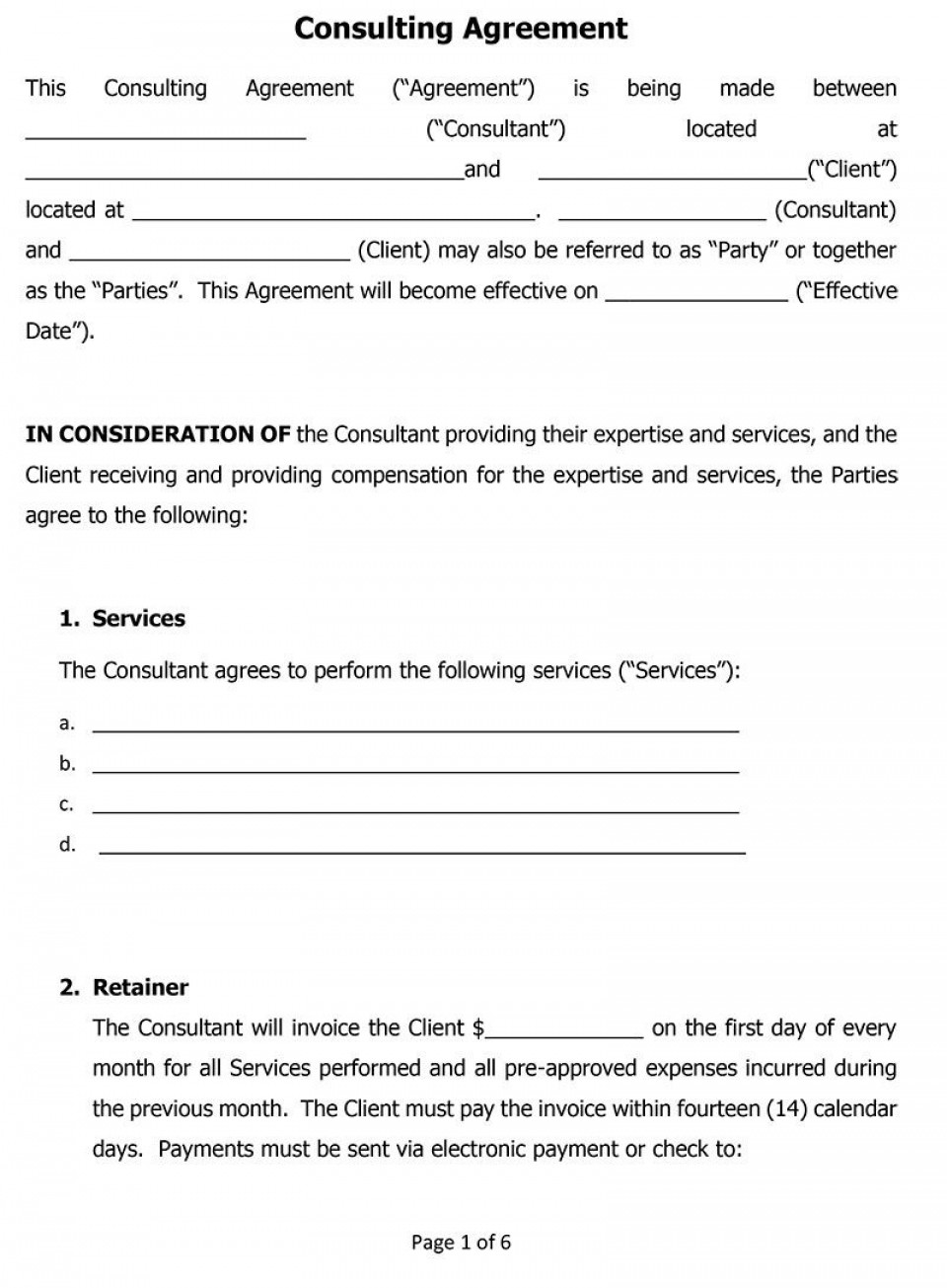 004 Formidable Simple Consulting Agreement Template Design  Service Uk Free960