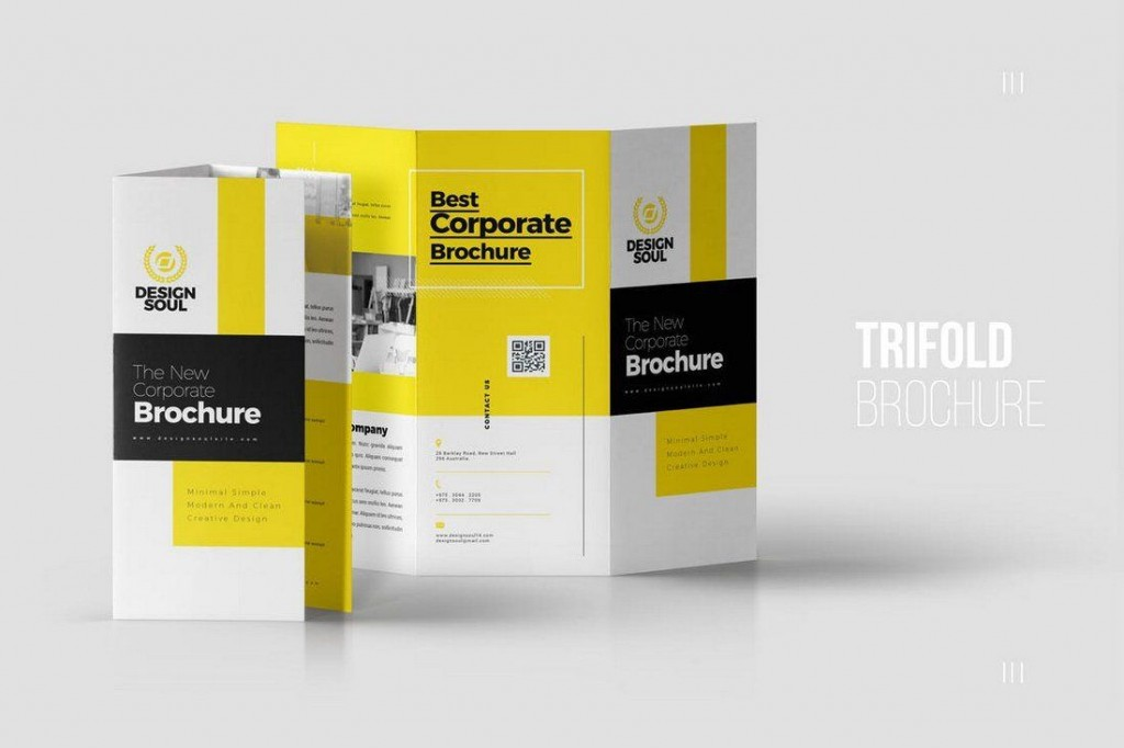 004 Formidable Three Fold Brochure Template Indesign Highest Clarity  3 A4Large