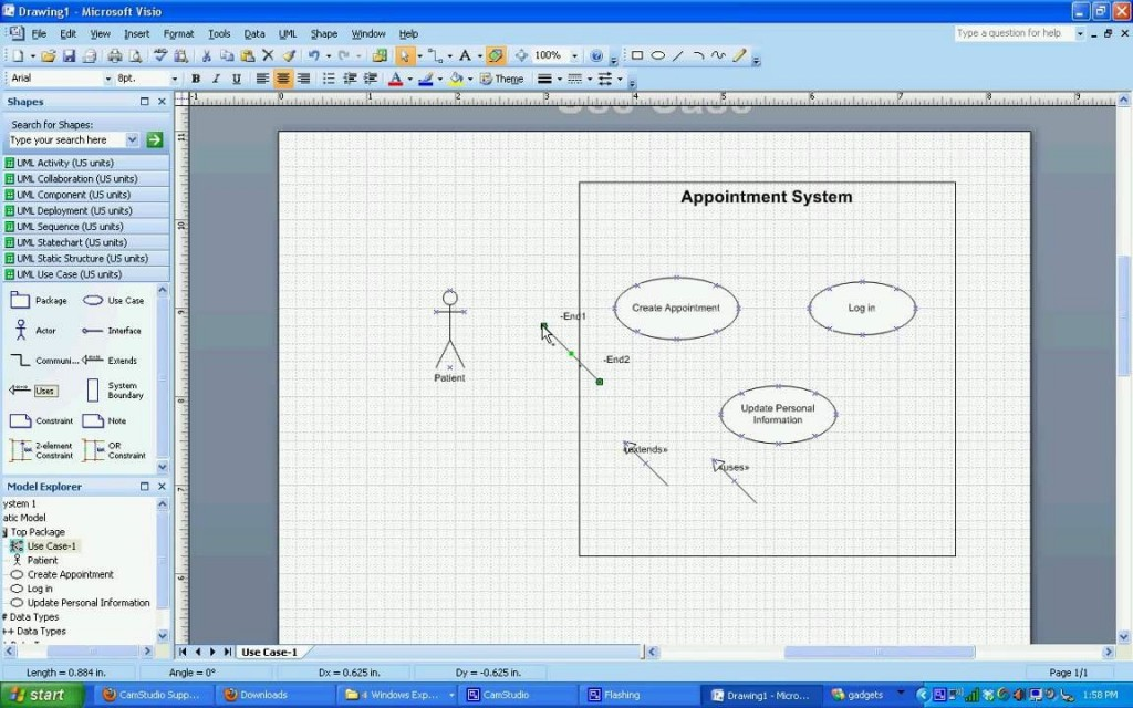 004 Formidable Use Case Diagram Template Visio 2010 High Def  Uml Model Download ClasLarge