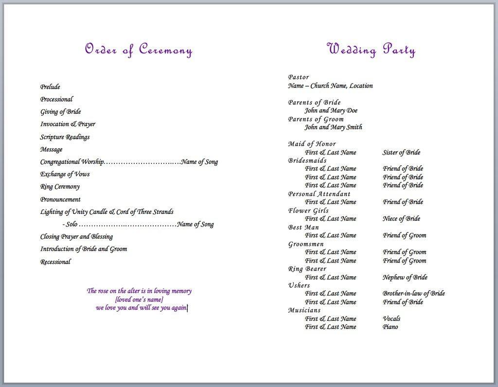 004 Formidable Wedding Party List Template Image  Printable MemberLarge