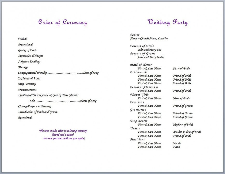 004 Formidable Wedding Party List Template Image  Member Printable Guest