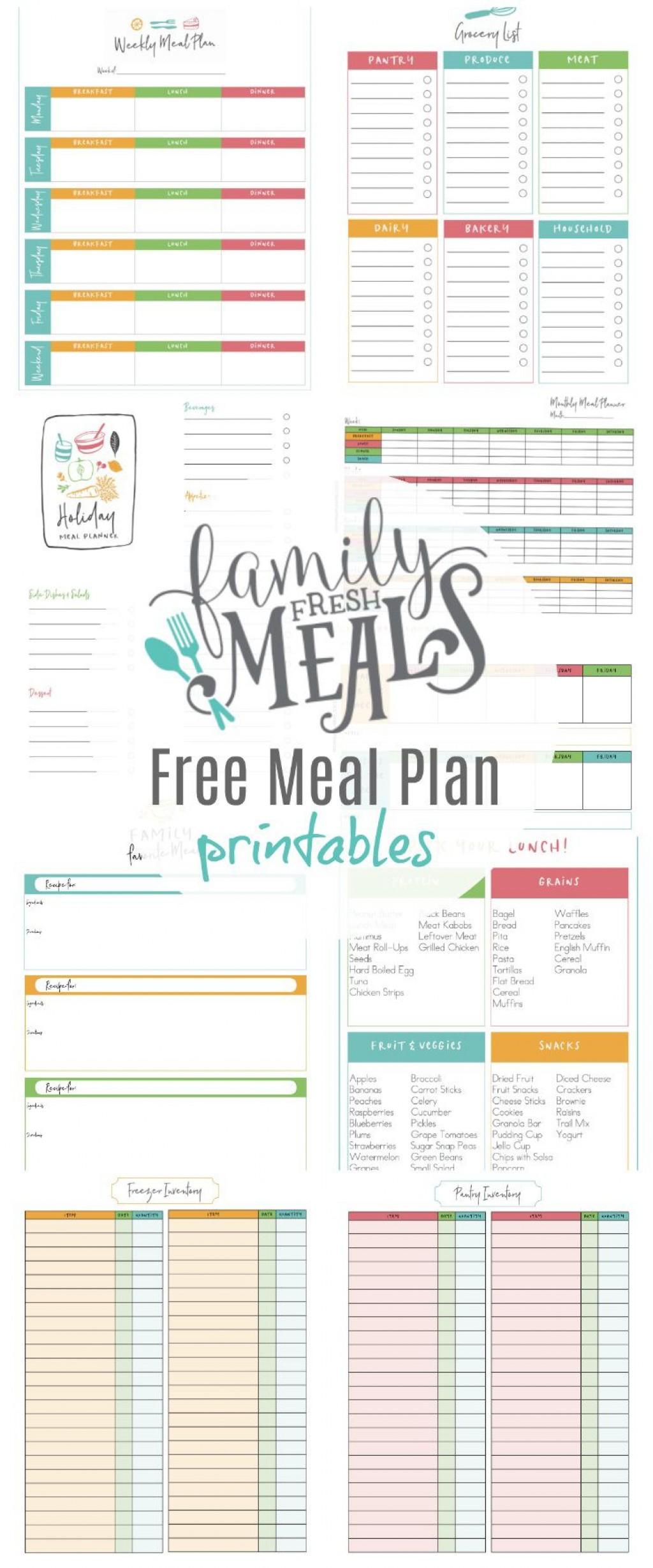 004 Formidable Weekly Meal Planning Worksheet Pdf Idea  FreeLarge