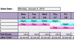 004 Frightening 8 Hour Shift Schedule Template Sample  Best Rotating Example Work Day