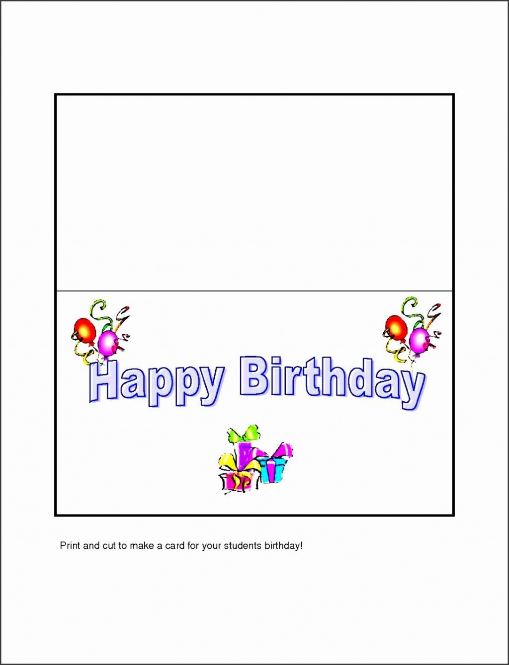 004 Frightening Birthday Card Template Word Highest Clarity  Blank Greeting Microsoft 2010Large