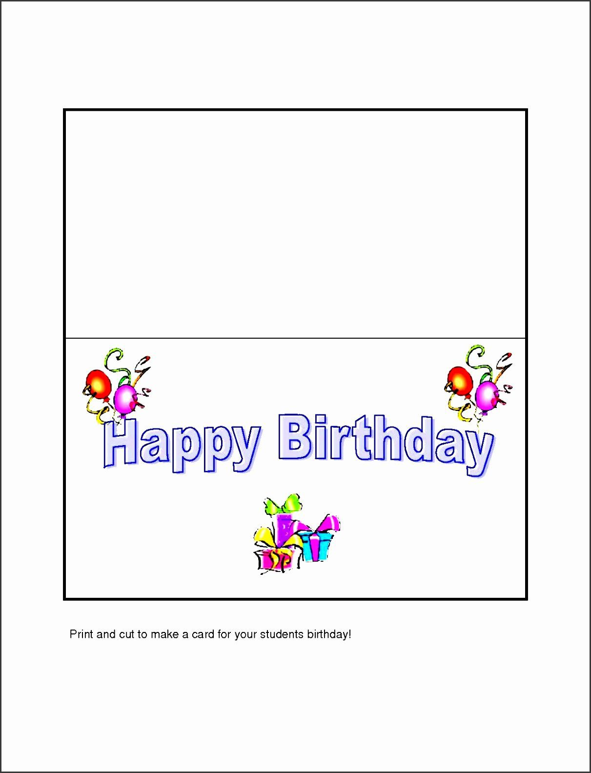 004 Frightening Birthday Card Template Word Highest Clarity  Blank Greeting Microsoft 2010Full