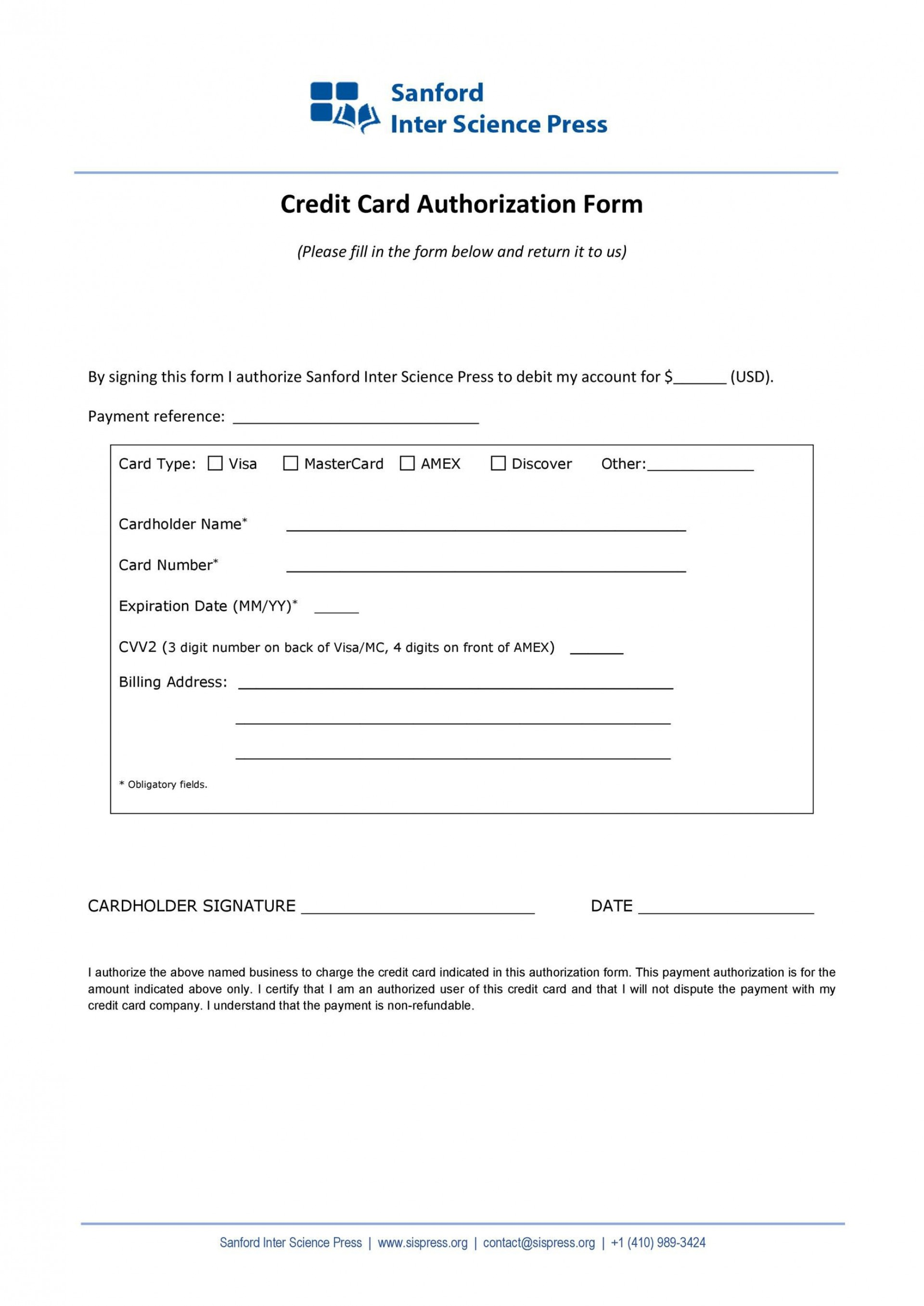 004 Frightening Credit Card Payment Form Template Pdf Design  Authorization1920