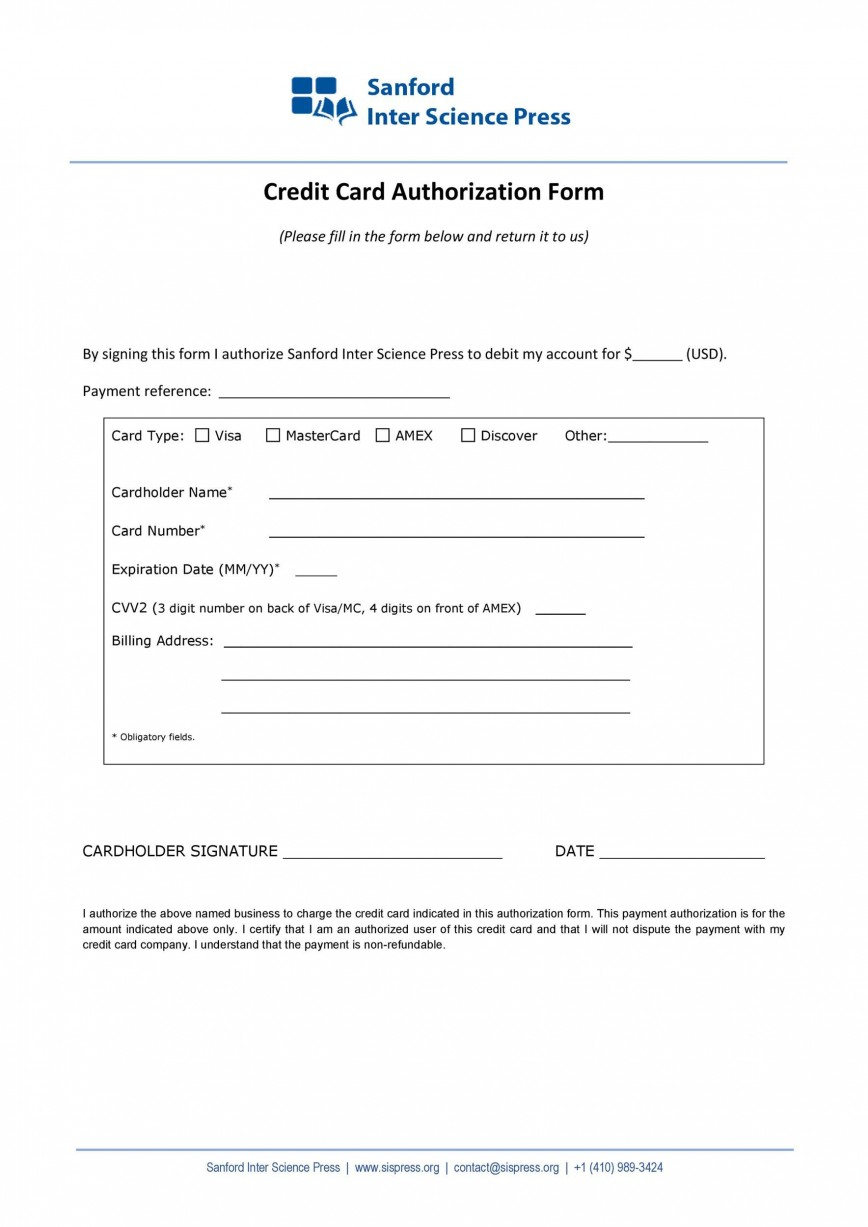 004 Frightening Credit Card Payment Form Template Pdf Design  Authorization