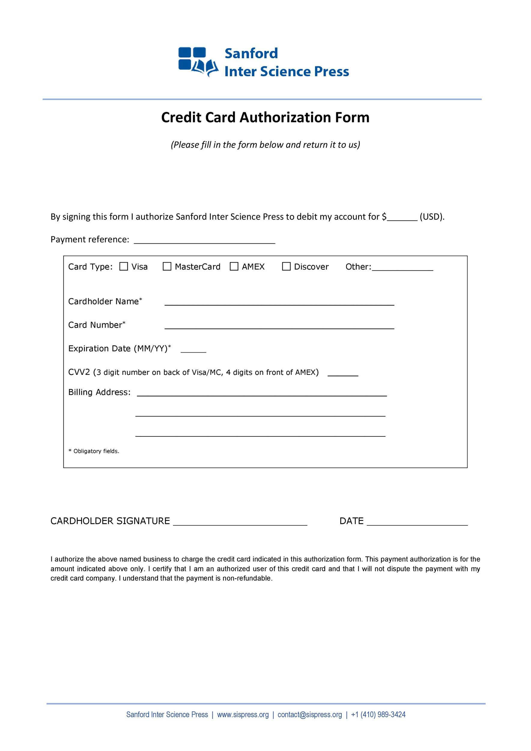 004 Frightening Credit Card Payment Form Template Pdf Design  AuthorizationFull